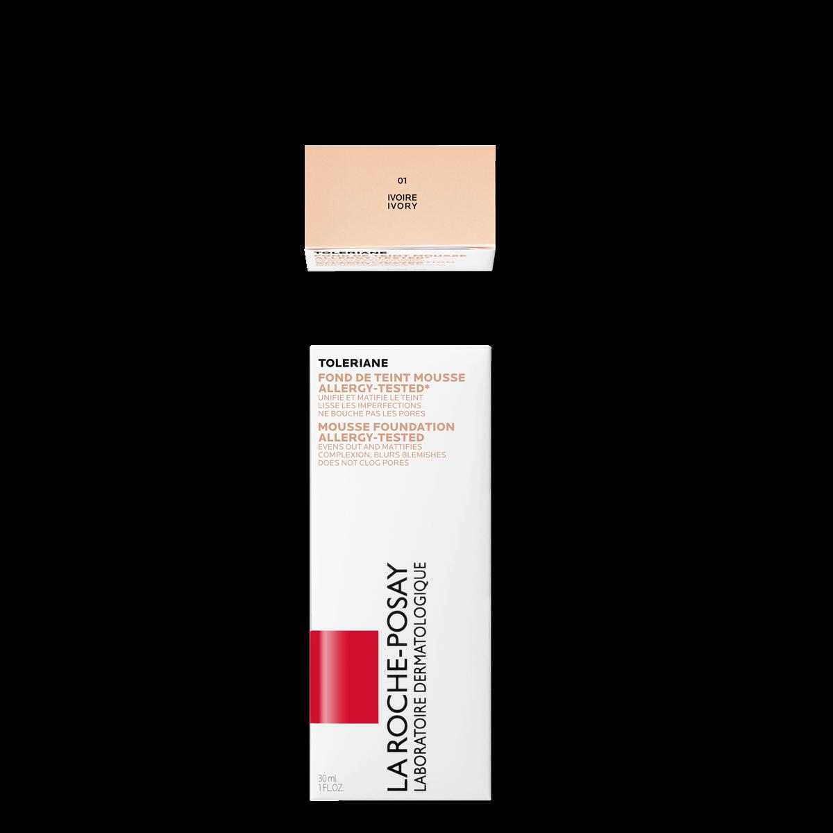 La Roche Posay Sensitive Toleriane Make up MOUSSE FOUNDATION 01IVORY 3